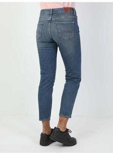 Colin's Colin'S 891 Maya Normal Bel Daralan Paça Slim Fit Kadın Jean Pantolon Lacivert